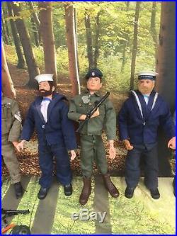 Vintage Job Lot Palitoy 1970's 8 x Action Man Figures & Clothes Spares or Repair