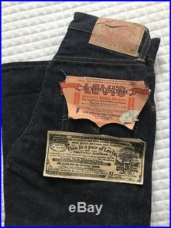 Vintage LEVIS 503ZXX Big EYouth Jeans, Redline, Jerky Patch, Deadstock-50-60s