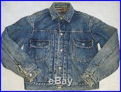 Vintage LEVI Jacket Type 2 Big E-Pleated-Selvedge Edge Blanket Lined Rockabilly