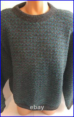 Vintage LL Bean Norwegian Birdseye Fishermans Sweater Mens L Made in Norway