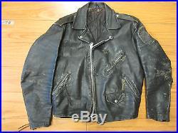Vintage Leather motorcycle jacket 50's size 44