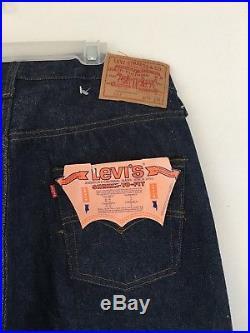 Vintage Levi redline Deadstock 501 34×36 # 524 Button No Big E Pair # 2