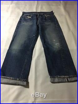 Vintage Levi's 501 Big E V Stitch Jeans Redline 60s 33/29 Actual
