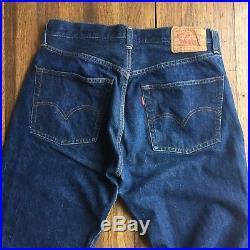 Vintage Levi's 70's 501 Selvedge Redline Denim Jeans #6 Button W34 L33