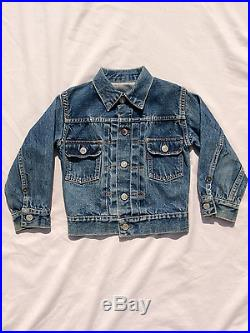 Vintage Levi's Big E second edition child denim jean jacket