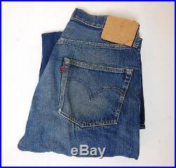 Vintage Levis 501XX Big E Redline Selvedge Hidden Rivets Denim Jeans