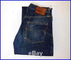 Vintage Levis 501XX Big E Redline Selvedge Hidden Rivets Denim Jeans Jerky Tag
