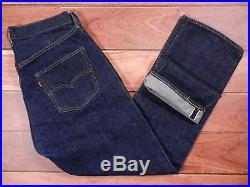 Vintage Levis 501 Big E Jeans 34×32 Selvedge Straight Leg #6 Button Fly Original