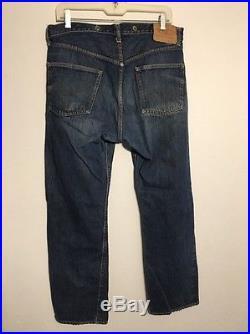 Vintage Levis 501 S Big E Redline Jeans W36 L 32 Distressed (men's) Blue