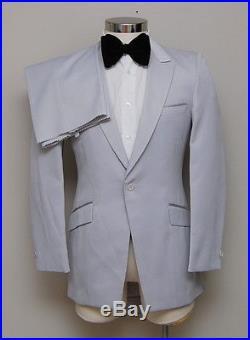 Vintage Mens 36R After Six 2 Piece Light Grey Tuxedo