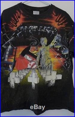 Vintage Metallica T-shirt 1991 Master of Puppets print RARE