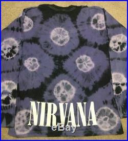 Vintage Nirvana Nevermind Shirt Kurt Cobain Long Sleeve Shirt Tie Dye