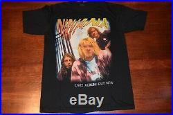 Vintage Nirvana T Shirt Live Size Large RARE 3D EMBLEM PLEASE READ DESCRIPTION