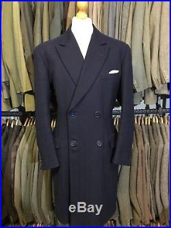Vintage Nortons 1960s Bespoke Savile Row Overcoat Size 42