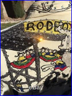 Vintage Nudie's Rodeo Tailors Ranch Southwestern Western shirt