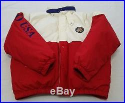 Vintage POLO Ralph Lauren Down SKI Jacket COOKIE PATCH 90s Puffy sz L Large