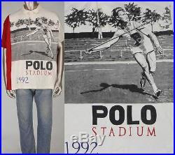 Vintage Polo Stadium 1992 Javelin Ralph Lauren Snow Beach P Wing Shirt Jacket