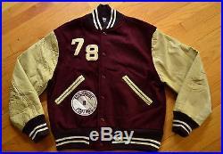 Vintage ROBINSON High School MAROONS Hip Hop Varsity LETTERMANS Jacket Size 36 S