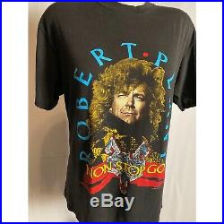 Vintage Robert Plant Led Zeppelin burnout rock concert tour 80s band t shirt