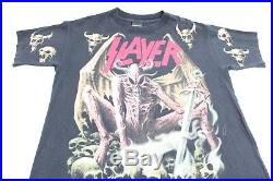 Vintage Slayer All Over Print Shirt Large Seasons In The Abyss Metallica Brockum