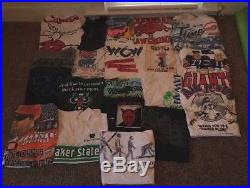 Vintage T-Shirt Lot Of 40 Nascar Looney Tunes Pepsi Travel 80s 90s WCW Harley