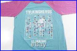 Vintage Talking Heads T-shirt 1980 US Tour Tee Original David Byrne 80s S Small