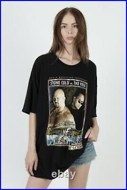Vintage WWF Wrestlemania X-Seven The Rock Stone Cold Steve Austin T shirt XXL