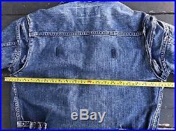 Vintage Wrangler Blue Bell 111MJ 40s Denim Jacket Sanforized (fits Medium)