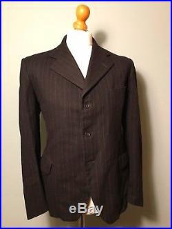 Vintage antique edwardian style 1920's 1930's pinstripe lounge suit size 40 42