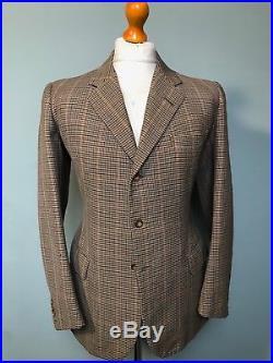 Vintage bespoke 1950's tweed suit size 38 40