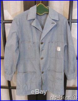 Vintage c 1950s Sweet Orr DENIM Chore Jacket WORKWEAR Railroad Train