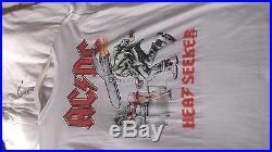 Vintage large ac dc heat seeker 1988 tour t shirt