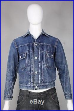 Vintage levis 2nd edition denim jacket S/M big E original jean 50's type II