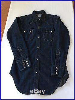 Vintage levis shorthorn sawtooth denim shirt near deadstock condition big E era