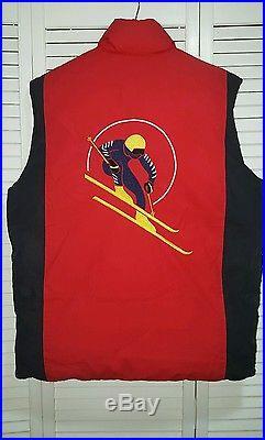 Vintage polo ralph lauren stadium indian p wing rare cookie ski sweater sz L