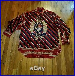 Vintage polo ralph lauren stadium indian p wing ski rare 92 crest shirt sz L