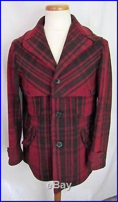 Vtg 1930s SOO WOOLEN MILLS Wool Mackinaw Coat 38 40 (M) Hunting WORK WEAR jacket