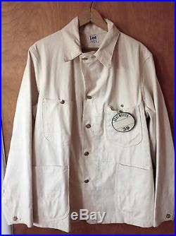 Vtg 1939 Lee Denim Coverall Jacket Size 40 Union Made SANFORIZED Dartmouth 39