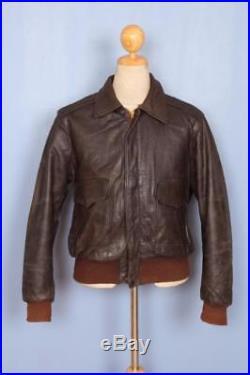 Vtg 1940s HERCULES Sears HORSEHIDE Leather Flight Motorcycle Jacket Large