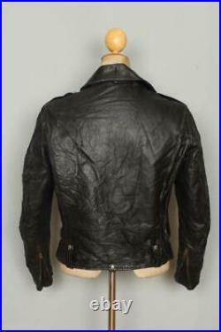 Vtg 1950s BUCO J-21 D-Pocket Horsehide Leather Motorcycle Jacket 38/40