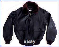 Vtg 1971 G-1 USN US NAVY Leather Bomber Flight Jacket Mens 44 Celebrity Owned