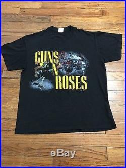 Vtg 1987 Guns N Roses Was Here Tour T Shirt Springford Tag L 42-44