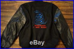 Vtg 1991 Rare Metallica Wherever I May Roam Tour Crew Jacket Letterman Leather L