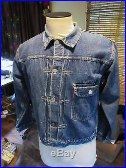 Vtg 40s. Mens Levis 506XX First Edition Denim Jacket Red One Side Big E Tab. 42. OG