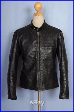 Vtg 50s HARLEY DAVIDSON Horsehide Leather Cafe Racer Motorcycle Jacket S/M