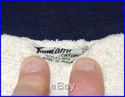 Vtg 50s Rayon Print Cabana Jacket M Terry Cloth Lining Tiki Masks Pool Atomic