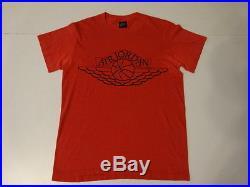 Vtg 80s 1985 NIKE Swoosh Blue Tag AIR JORDAN 1 NBA Michael Jordan T-Shirt Mens M