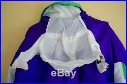 Vtg 80s 90s NEVICA Mens Large One Piece SKI SUIT Snowsuit NEON 42 Purple Green