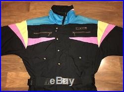 Vtg 80s 90s SLALOM Mens MEDIUM One piece SKI SUIT Snow Bib Snowsuit Retro GAPER