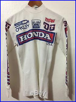 Vtg 80s Dig Racing Apparel Moto X Motocross Honda Jersey Shirt Men's Sz S Xs
